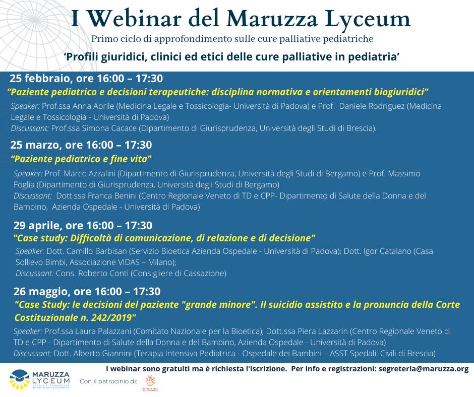"""Featured image for """"I Webinar del Maruzza Lyceum sono in partenza!"""""""
