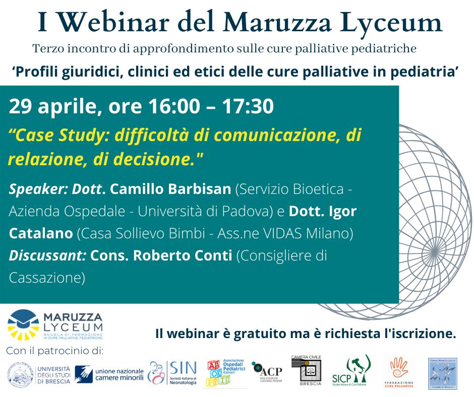 """Featured image for """"29 aprile 2021 – Iscriviti al terzo webinar del Maruzza Lyceum"""""""